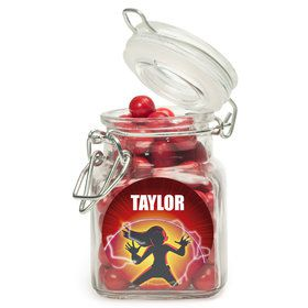 Superhero Family Personalized Glass Apothecary Jars (10 Count)