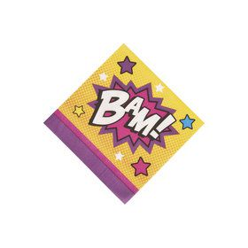 Superhero Girl Beverage Napkins (16 Count)