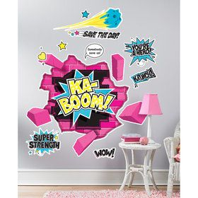 Superhero Girl Giant Wall Decals