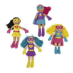 Superhero Girl Plush Dolls (4)