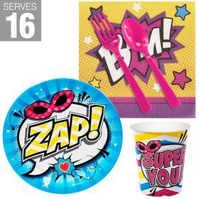 Superhero Girl Snack Pack For 16
