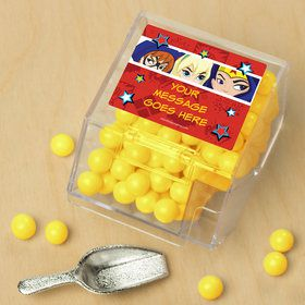 Superhero Girls Personalized Candy Bin with Candy Scoop (10 Count)