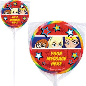 Superhero Girls Personalized Lollipops (12 Pack)