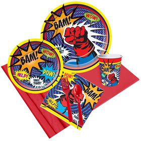 Superhero Party Pack For 8