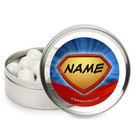 Superhero Personalized Candy Tins (12 Pack)