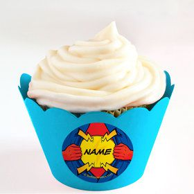 Superhero Personalized Cupcake Wrappers (Set of 24)
