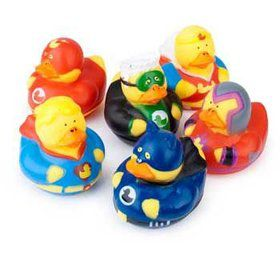 Superhero Rubber Duckie (each)