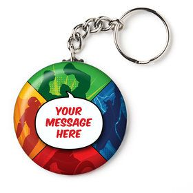 "Superheroes Personalized 2.25"" Key Chain (Each)"