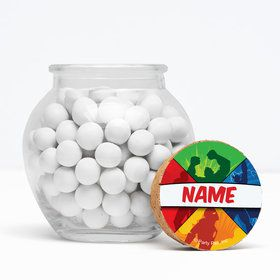 "Superheroes Personalized 3"" Glass Sphere Jars (Set of 12)"