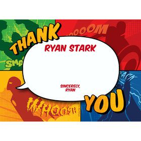 Superheroes Personalized Thank You (Each)