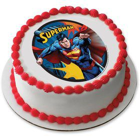"Superman 7.5"" Round Edible Cake Topper (Each)"
