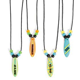 Surf Board Necklaces (12 Count)