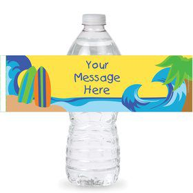 Surfer Dude Personalized Bottle Labels (Sheet of 4)