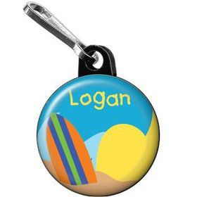 Surfer Dude Personalized Mini Zipper Pull (each)
