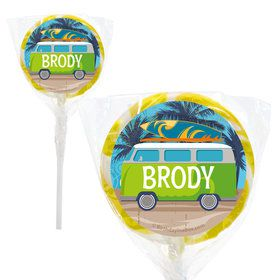 "Surf's Up Personalized 2"" Lollipops (20 Pack)"