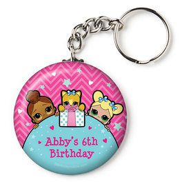 "Surprise Dolls Personalized 2.25"" Key Chain (Each)"