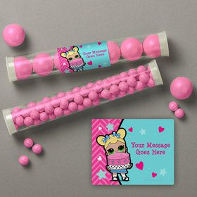 Surprise Dolls Personalized Candy Tubes (12 Count)