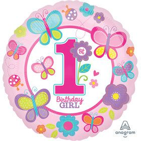 "Sweet 1st Birthday Girl 18"" Balloon (1)"