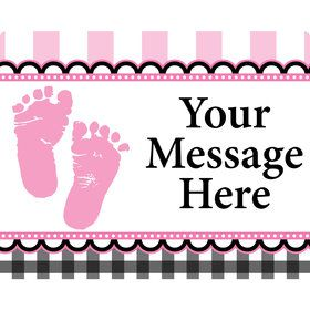 Sweet Baby Feet Pink Personalized Address Labels (Sheet of 15)