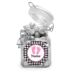 Sweet Baby Feet PinkPersonalized Glass Apothecary Jars (12 Count)