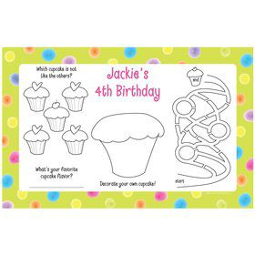 Sweet Celebration Personalized Activity Mats (8-Pack)