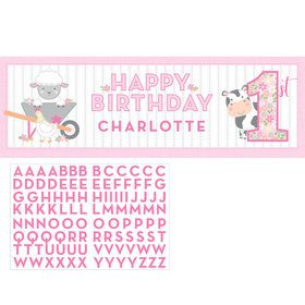Sweet Farmhouse 1st Birthday Giant Personalized Banner