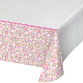 Sweet Farmhouse 1st Birthday Platic Table Cover