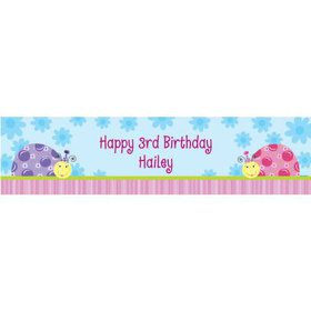 Sweet Ladybug Personalized Banner (each)