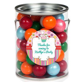 Sweet Stuff Personalized Paint Can Favor Container (6 Pack)
