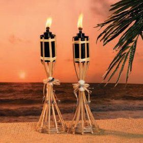 "Tabletop Bamboo Polynesian 13"" Tiki Torches (Each)"
