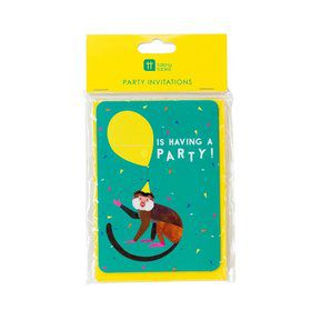 Talking Tables Party Animals Invites with Envelopes (8)