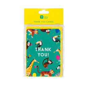 Talking Tables Party Animals Thank You Cards with Envelopes (8)