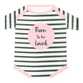 Talking Tables Pink Born To Be Loved Romper Napkin (16)
