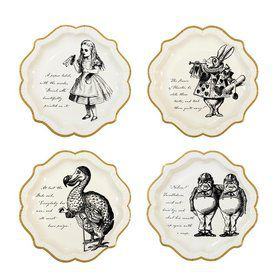 Talking Tables Truly Alice Assorted Shaped Lunch Plate (12)