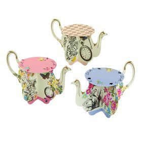 Talking Tables Truly Alice Assorted Teapot Cupcake Stand (6)