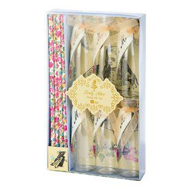 Talking Tables Truly Alice Mini Bottle, Tag & Straw Set (6)