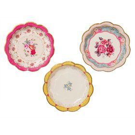 "Talking Tables Truly Scrumptious Assorted 7"" Scallop Dessert Plate (12)"