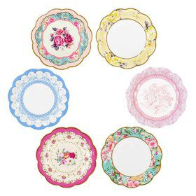 """Talking Tables Truly Scrumptious Assorted """"Vintage"""" Dessert Plate (12)"""