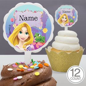 Tangled Personalized Cupcake Picks (12 Count)
