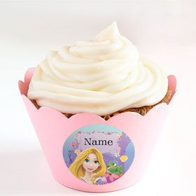 Tangled Personalized Cupcake Wrappers (Set of 24)