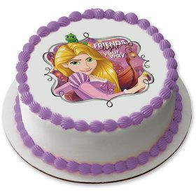 """Tangled Rapunzel 7.5"""" Round Edible Cake Topper (Each)"""