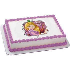 Tangled Rapunzel Quarter Sheet Edible Cake Topper (Each)
