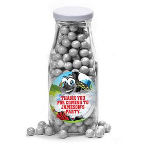 Tank Engine Personalized Glass Milk Bottles (12 Count)