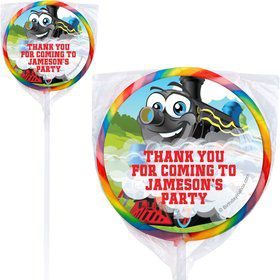 Tank Engine Personalized Lollipops (pack of 12)
