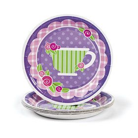 Tea Party Paper Dessert Plates (8 Count)