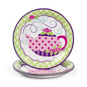 Tea Party Paper Dinner Plates (8 Count)
