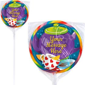 Tea Party Personalized Lollipops (12 Pack)