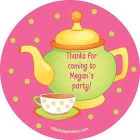 Tea Party Personalized Stickers (sheet of 12)
