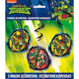 Teenage Mutant Ninja Turtles Hanging Swirl Decorations (3)