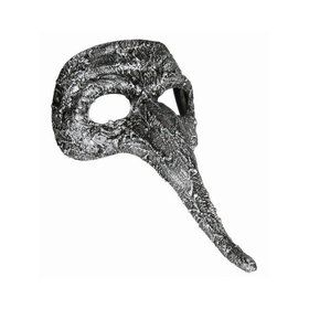 Textured Long Nose Mask Silver